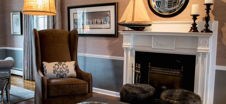 Barrington Estates for a Transitional Living Room with a Window Trim and Country Estate by a Perfect Placement
