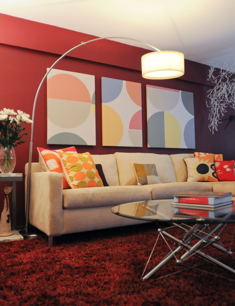 Barrow Furniture for a Midcentury Living Room with a Staging and Upper East Side Bride to Be by Village West Design