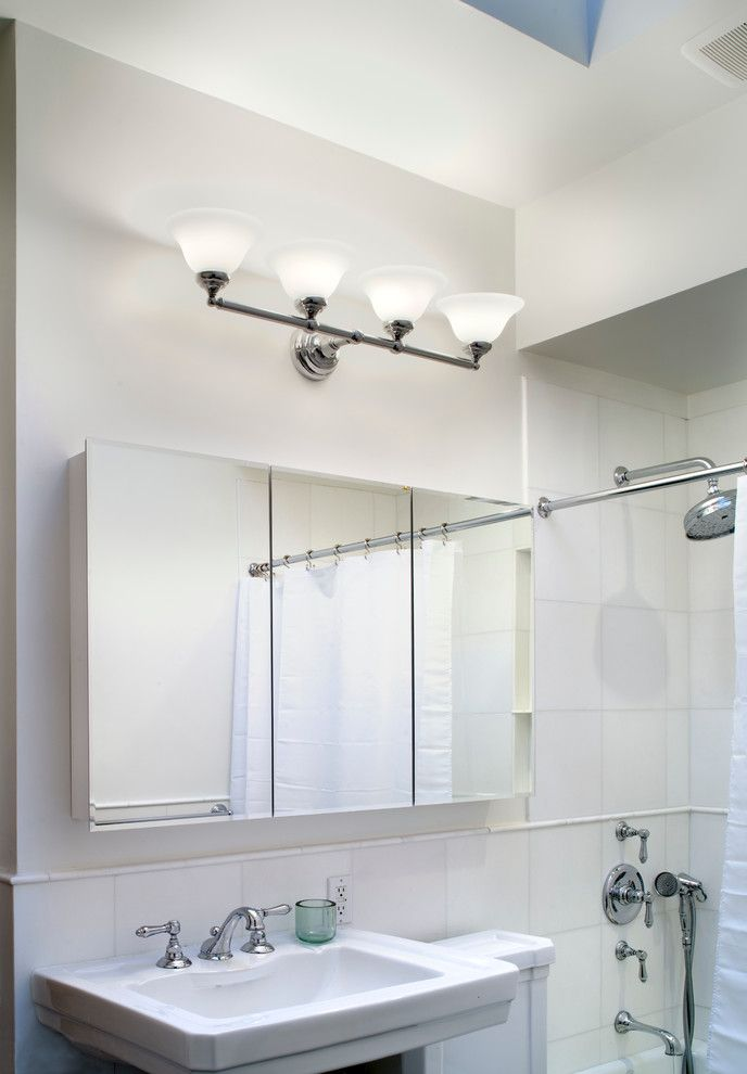 Barrow Furniture for a Transitional Bathroom with a Custom Home Furnishing and Brooklyn Penthouse by Village West Design