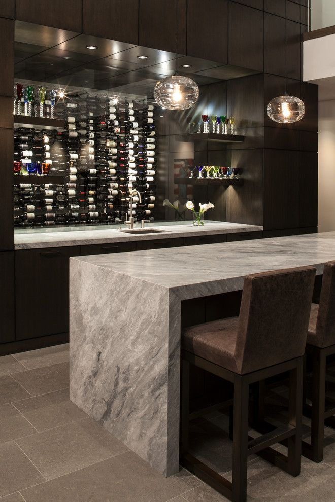 Barstol for a Contemporary Home Bar with a Contemporary and Contemporary by Rdm General Contractors