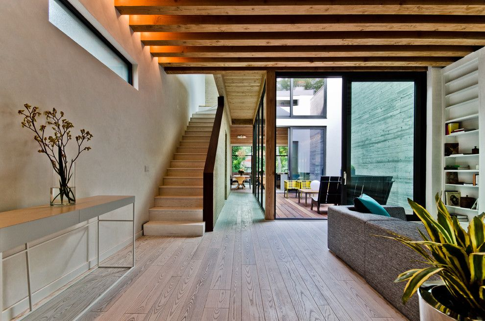 Basketball Court Layout for a Contemporary Staircase with a Deck and Ecologia Montreal by Alexandre Parent
