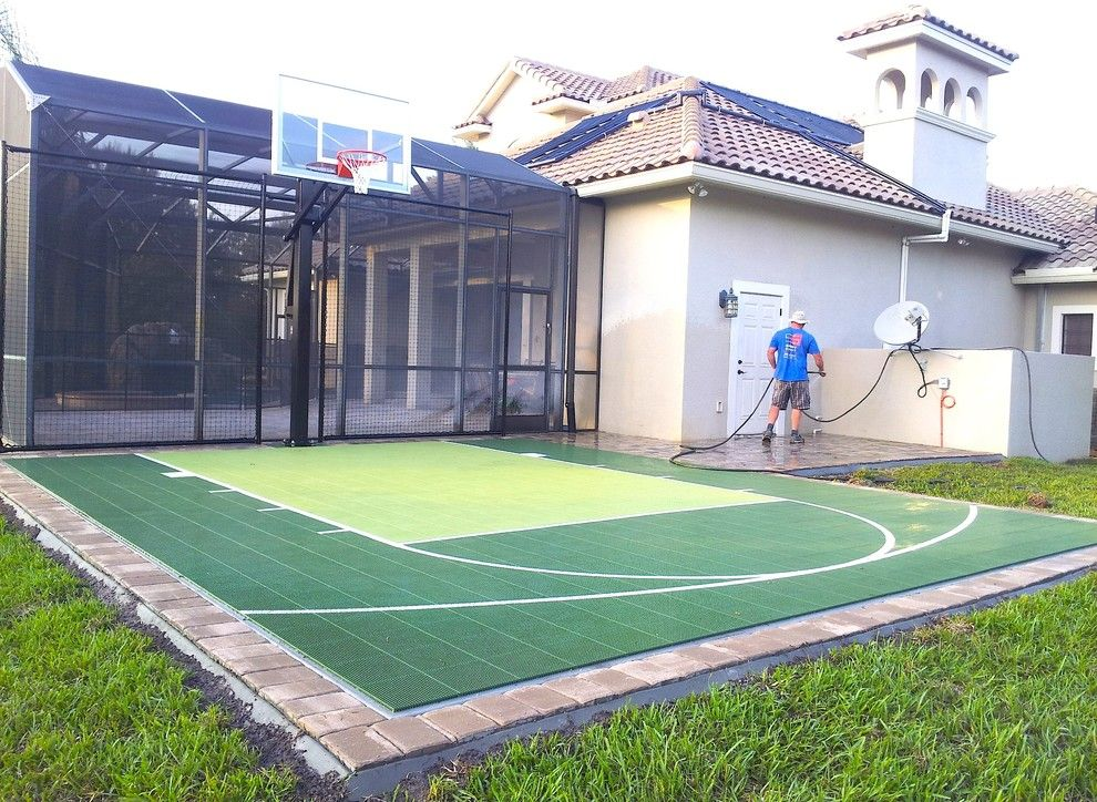 Batting Cage Miami for a Contemporary Landscape with a Sport Court and Lake Butler 3 by Sport Court Cfl