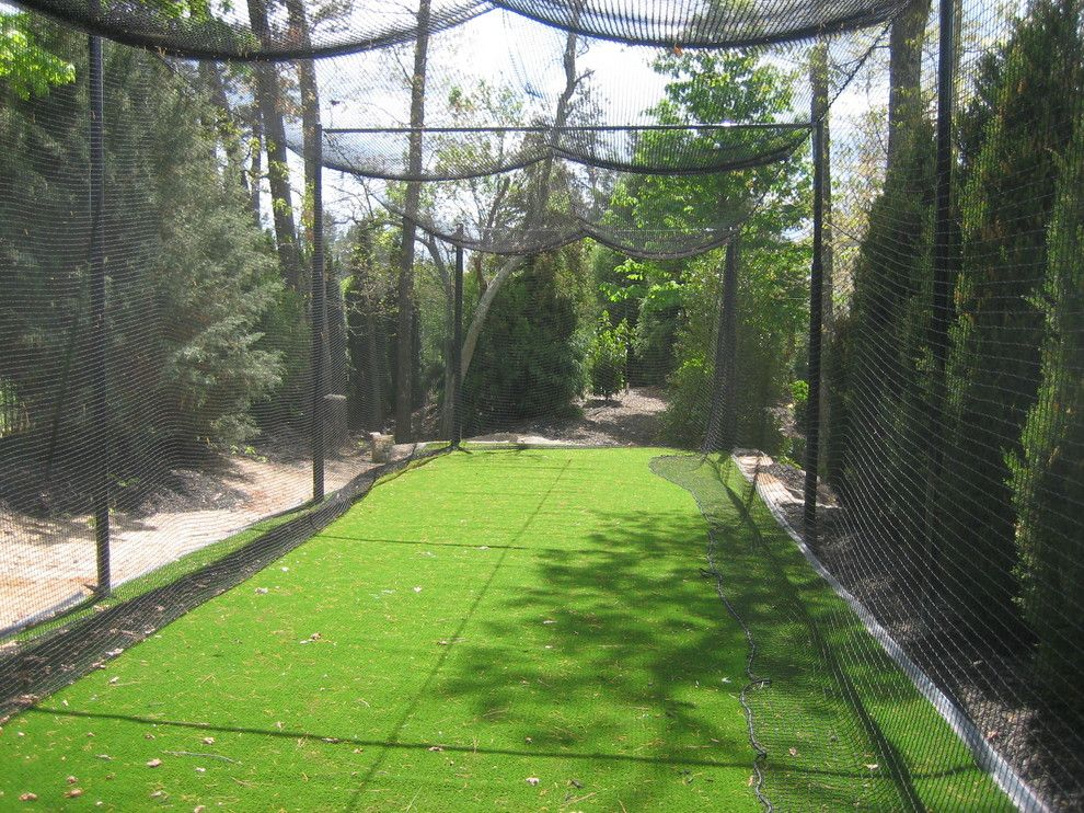 Batting Cage Miami for a Eclectic Landscape with a Nylon Netting and Cabana @ the Manor, Milton, Ga by Vesta Homes, Inc.