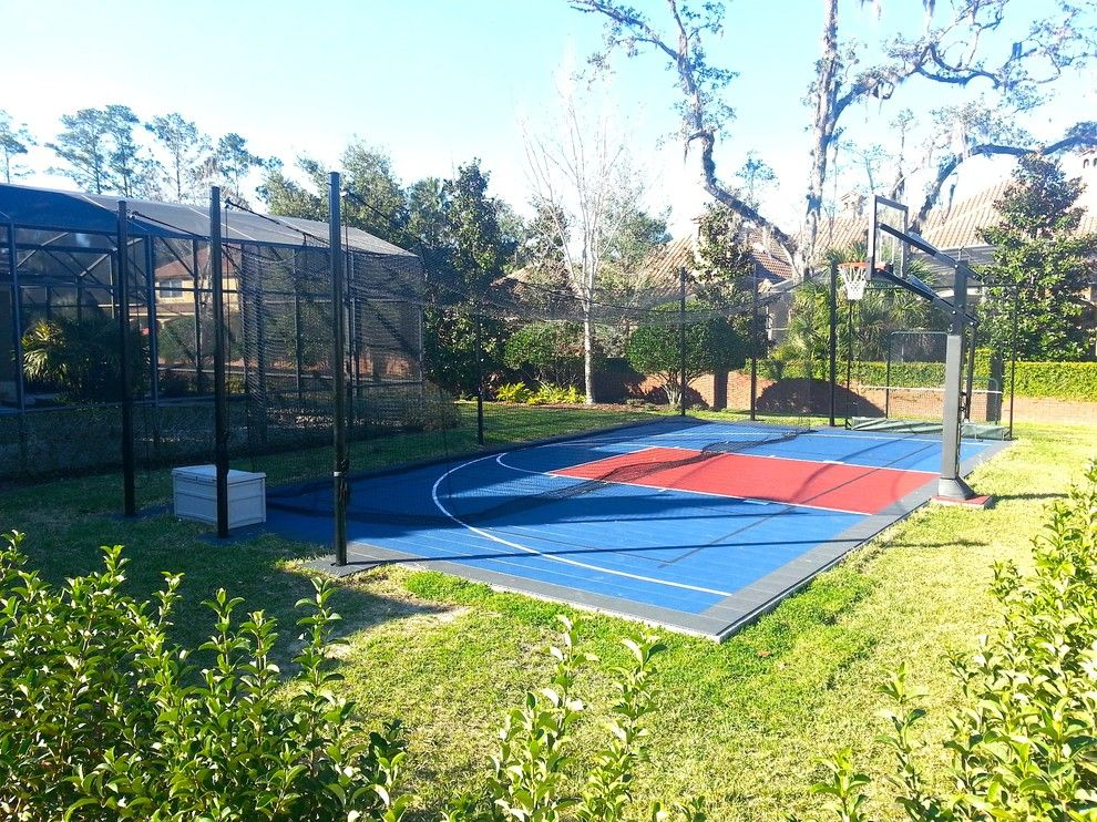 Batting Cage Miami for a Traditional Landscape with a Tennis Courts and Alaqua Lakes by Sport Court Cfl