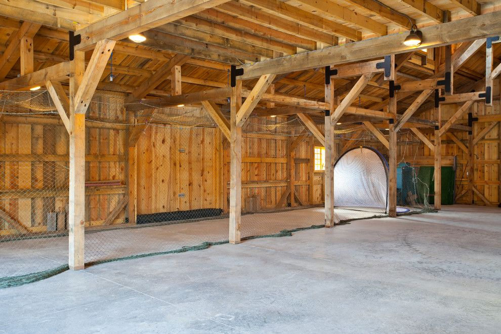 Batting Cage Miami for a Traditional Shed with a Wood Barn and Recreational Barn by Sand Creek Post & Beam