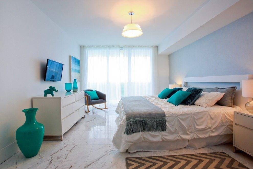 Beach Club Hallandale for a Beach Style Bedroom with a Modern Bedroom and Hallandale Beach Condo by 2id Interiors
