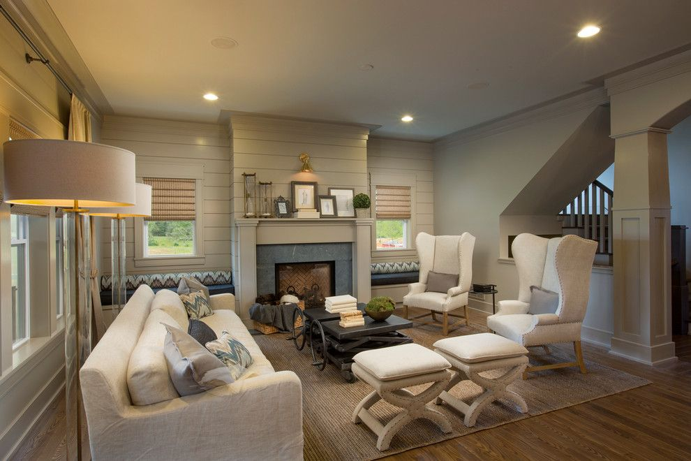 Beach Club Hallandale for a Transitional Living Room with a Wood Floor and Jerome Village Lot 125 by Romanelli & Hughes Custom Home Builders