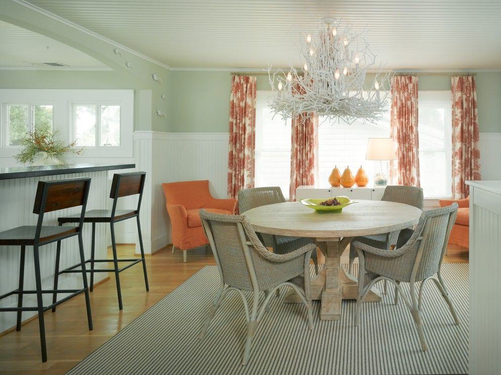 Beach Cottages San Diego for a Beach Style Dining Room with a Blue Walls and Beach Cottage Renovation for Aging in Place by Nancy Van Natta Associates