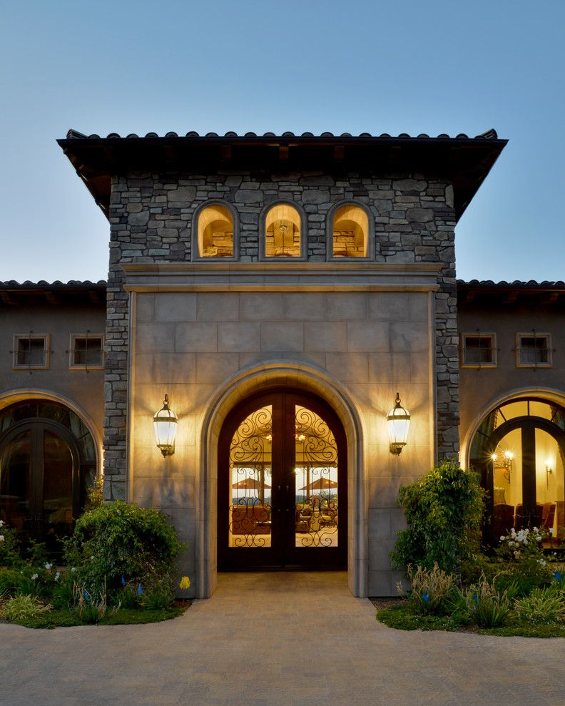 Beach Cottages San Diego for a Mediterranean Exterior with a Architectural Elements and Custom Fixture Design, San Diego by Tazz Lighting,Inc