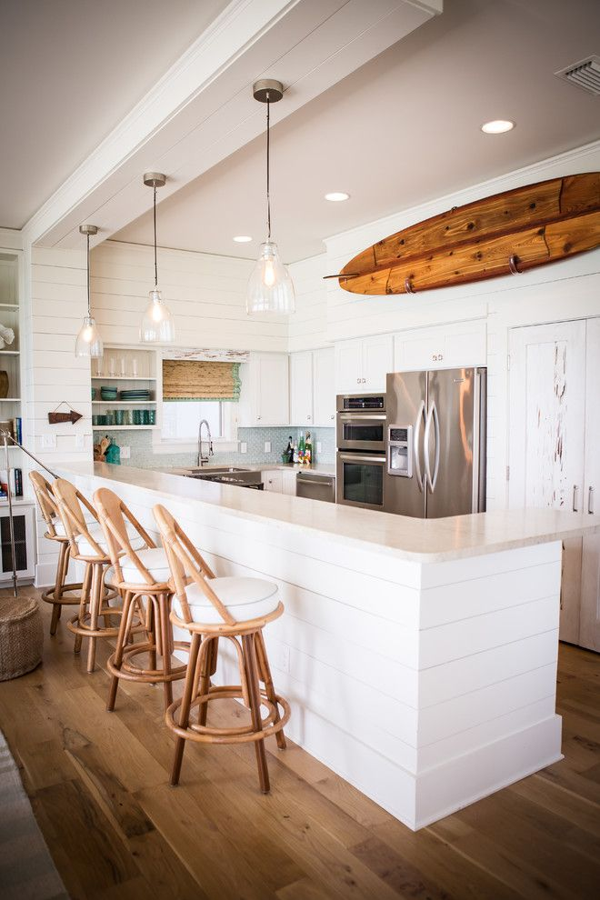Beach House Hermosa Beach for a Beach Style Kitchen with a Recessed Lighting and Alys Beach by Ashley Gilbreath Interior Design