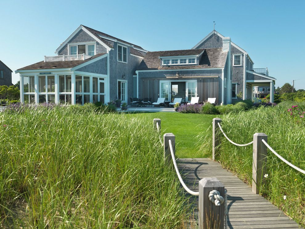 Beach House Hermosa Beach for a Beach Style Landscape with a Rope Railing and Surfside Chic Nantucket by Donna Elle Seaside Living