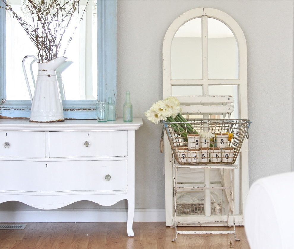 Beach Realty Nc for a Shabby Chic Style Bedroom with a Painted Wood and Dreamy Whites by Dreamy Whites