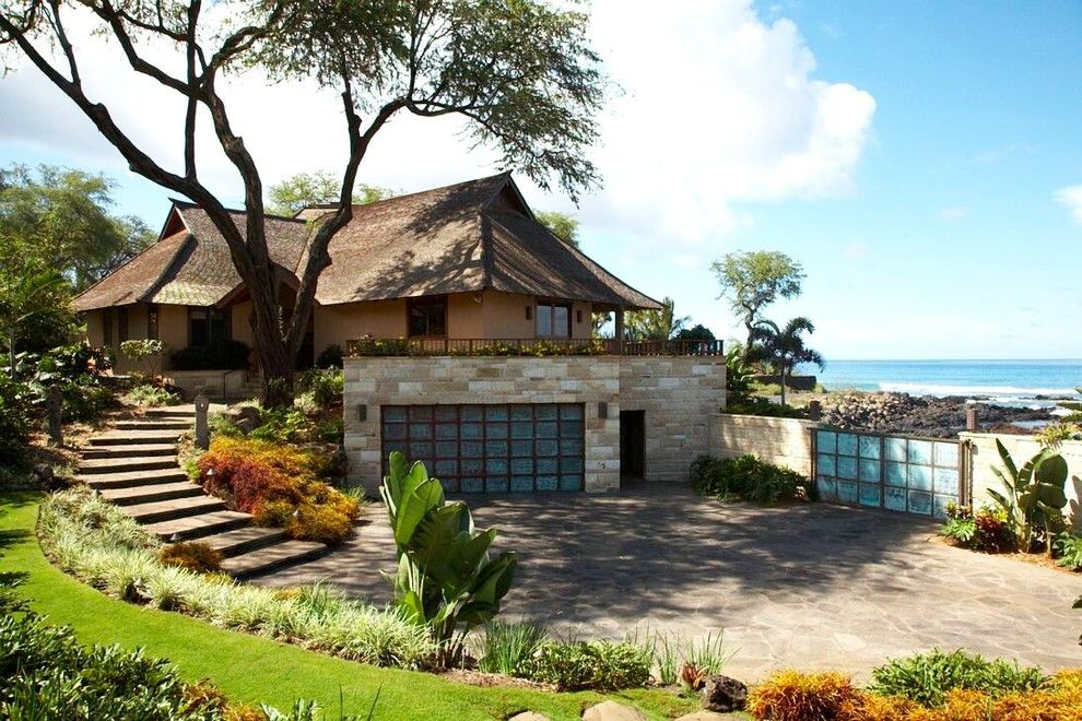 Bean Group Nh for a Asian Exterior with a Floor Plans and Polynesian Balinesian by Maui Architectural Group Inc