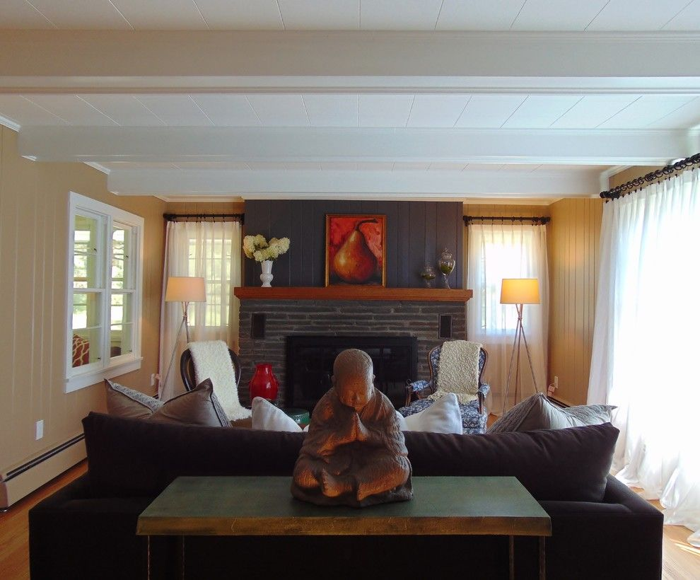 Bearsville Ny for a Farmhouse Living Room with a Buddha and Bearsville, Ny Staging & Redesign by Erik Forster Design