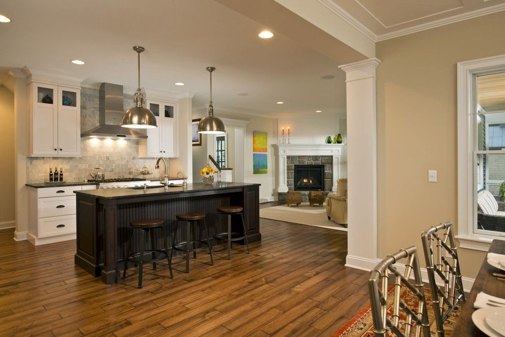 Beazer Homes Houston for a Traditional Kitchen with a Award Winning Kitchen and 2013 Saratoga Showcase of Homes   Executive Homes Runner Up    Best Kitchen by Columbia Cabinets