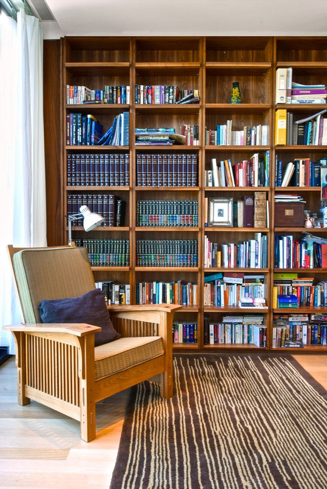 Beazer Homes Reviews for a Modern Family Room with a Office Side Chair and Office Bookcase by Andrew Snow Photography