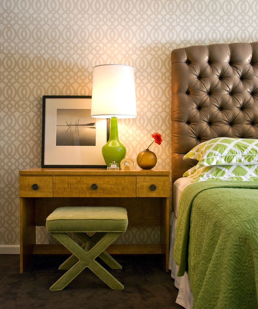 Bedsonline for a Contemporary Bedroom with a Wallcoverings and Upper East Side by Alexander Johnson Photography