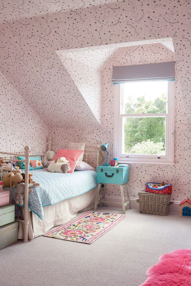 Bedsonline for a Traditional Kids with a Slanted Ceiling and Traditional Kids by Blakes London