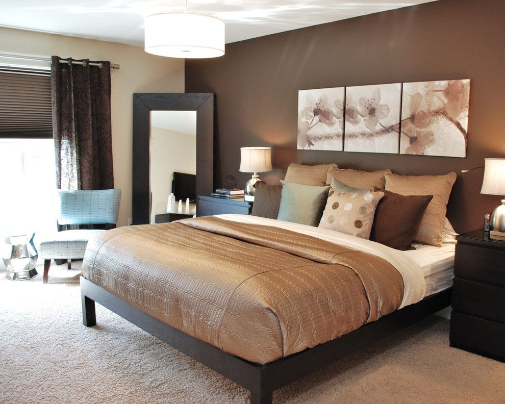 Behr Furniture for a Contemporary Bedroom with a Contemporary and Modern Romantic Master by Judith Balis Interiors