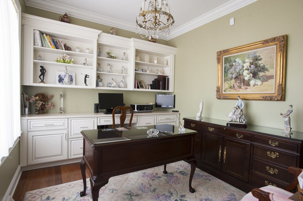 Behr Furniture for a Traditional Home Office with a Ledge and Kitchen Demrco13 by Morrison Kitchen & Bath