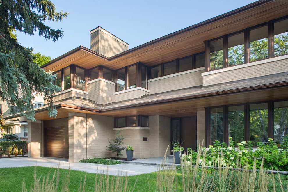 Belden Brick for a Contemporary Exterior with a Norman and Norman Size Brick   Belden 8532 by Mason's Masonry Supply Ltd