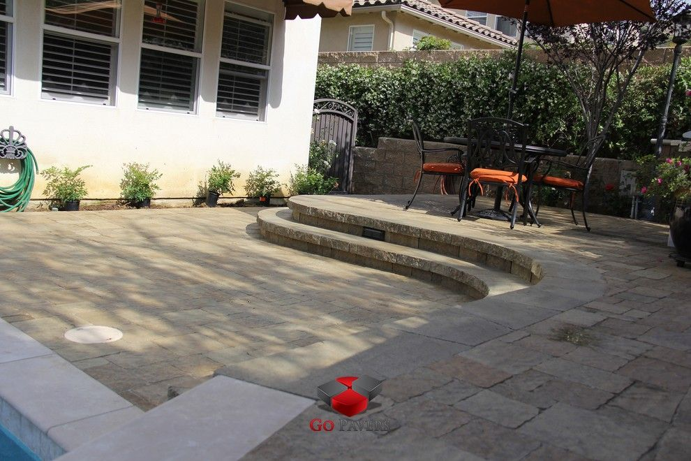 Belgard Hardscapes for a Traditional Patio with a California and Pavers Pool Deck From Beginning to End New View 4 by Go Pavers