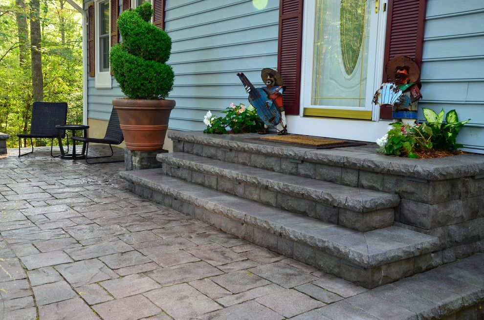 Belgard Hardscapes for a Traditional Patio with a Paverart and California Front Hardscapes by the Sharper Cut, Inc. Landscapes
