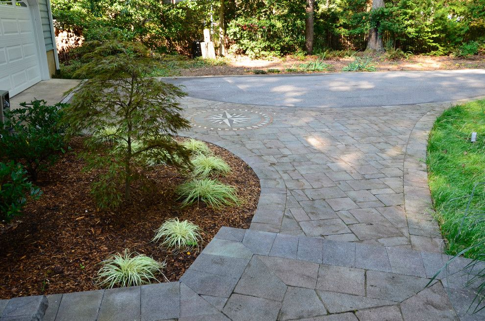Belgard Hardscapes for a Traditional Patio with a Walkway and California Front Hardscapes by the Sharper Cut, Inc. Landscapes