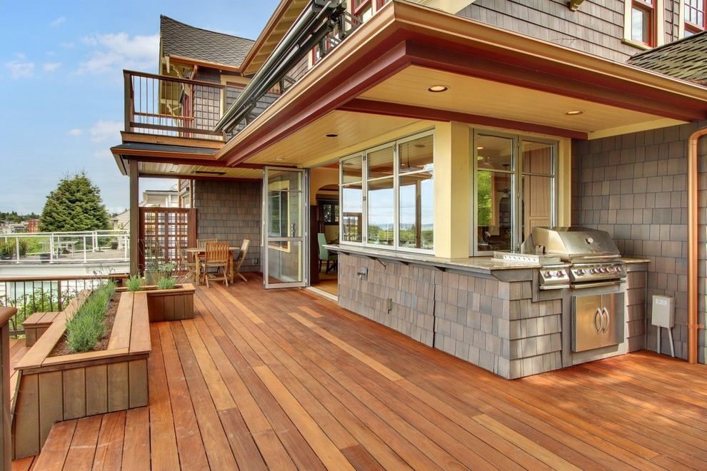 Bell Tower Hotel Ann Arbor for a Craftsman Deck with a Balcony Deck and West Seattle Craftsman by Sortun Vos Architects, P.s.