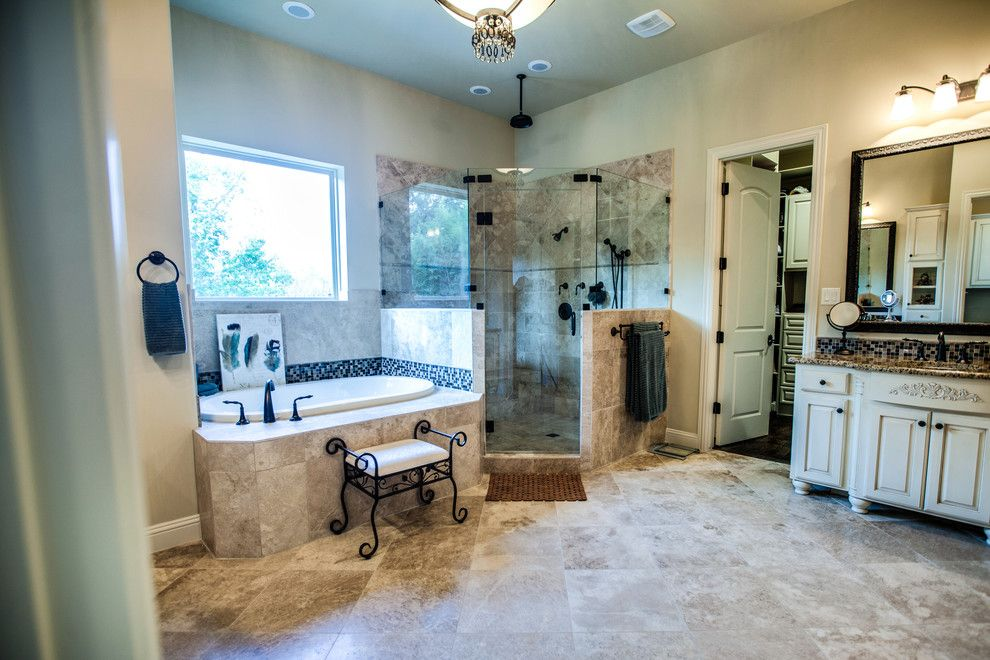Bella Terra Theater for a Traditional Bathroom with a Dallas Custom Home and Grand English Manor by Bella Vita Custom Homes & Remodeling