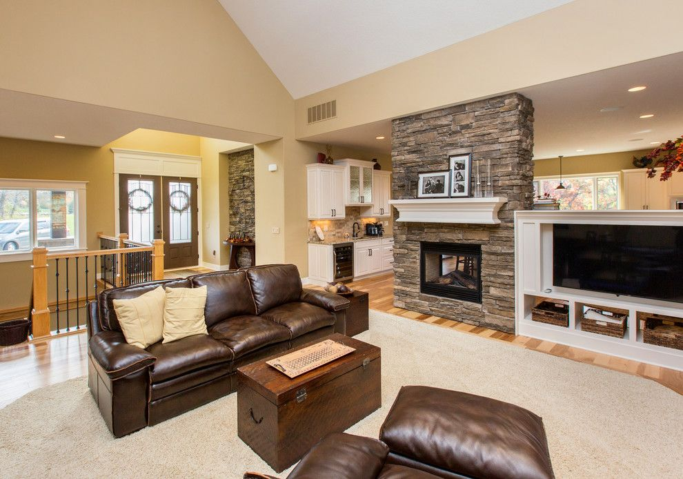 Bella Terra Theater for a Transitional Family Room with a Theater Room Built in Screen and Fall 2013 by Bella Homes