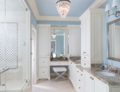 Bellagio Day Spa for a Traditional Bathroom with a Crema Marfil and Marietta Master Math and Closet Renovation by John Rogers Renovations, Inc.