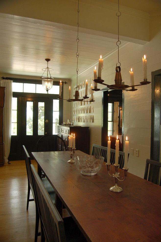 Belle Hall Apartments for a Farmhouse Dining Room with a Wall Art and Farmhouse Dining Room by Cuppettarchitects.com
