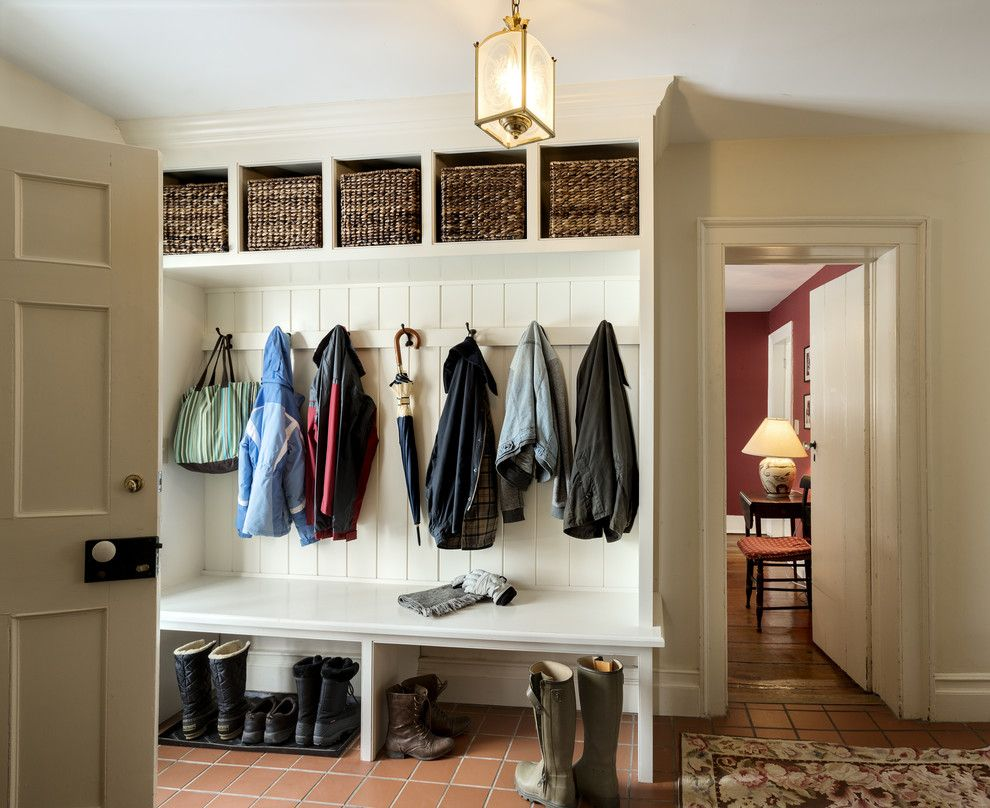 Belle Hall Apartments for a Farmhouse Entry with a Boot Storage and Coats and Cubbies by Crisp Architects