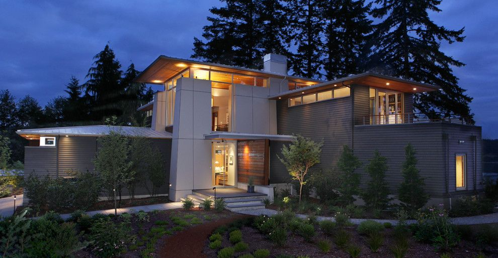 Bellevue Towers for a Contemporary Exterior with a Landscaping and Olympic View House by Bc&j Architecture