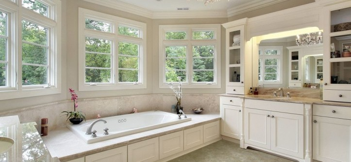 Bellevue Towers for a Traditional Spaces with a Bath Tub and Bathroom by Carpet One Floor & Home