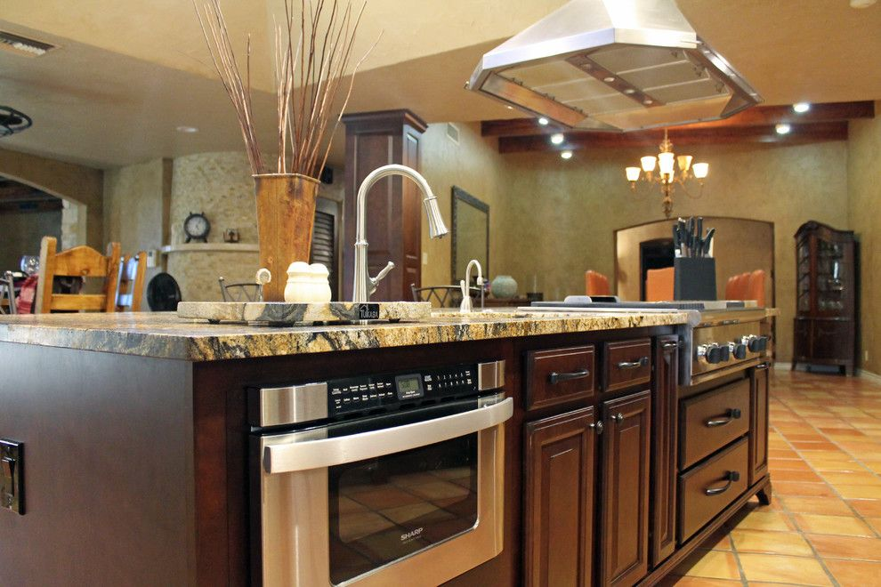 Belterra Austin for a Traditional Kitchen with a Dark Granite Countertops and Traditional Rustic Kitchen Design by Tukasa Creations, Inc.