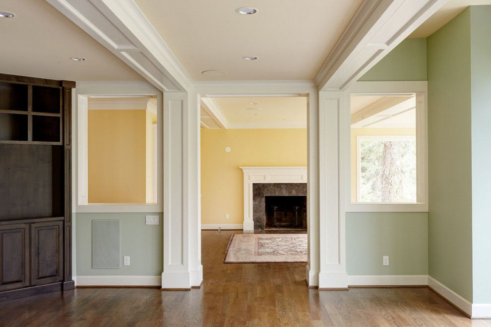 Benjamin Moore Seattle for a Traditional Spaces with a Built in Media Cabinet and Rossmeissl Home by Jordan Valente Construction Llc
