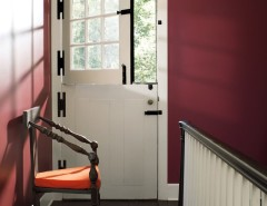 Benjamin Moore Whites for a Contemporary Hall with a Dutch Door and Benjamin Moore by Benjamin Moore