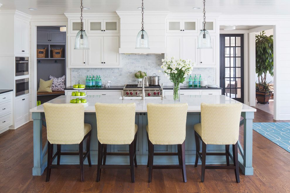 Benjamin Moore Whites for a Transitional Kitchen with a Pillows and Kitchen by Martha O'hara Interiors