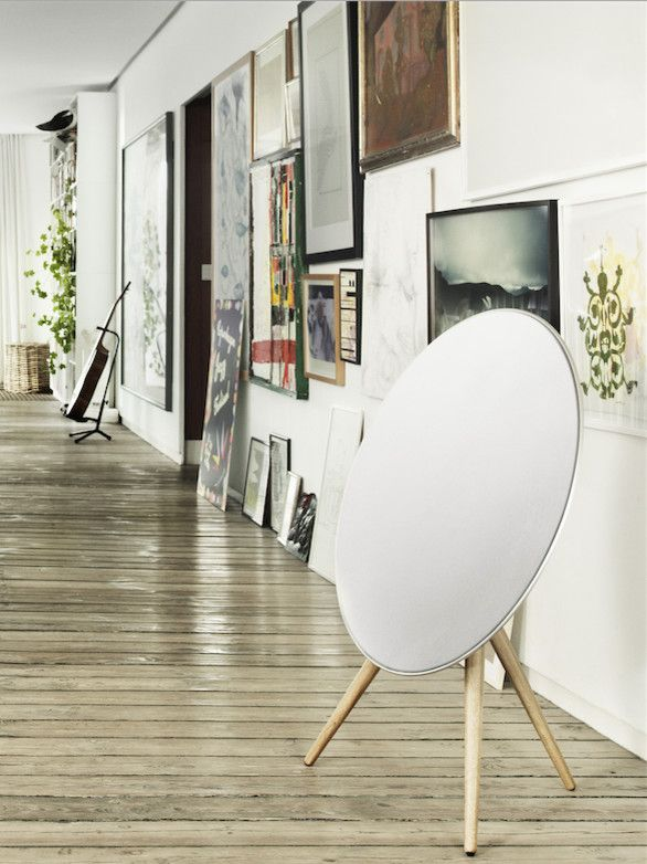 Beoplay A9 for a Contemporary Hall with a Modern Wall Art and Home Audio   Beoplay by Bang & Olufsen