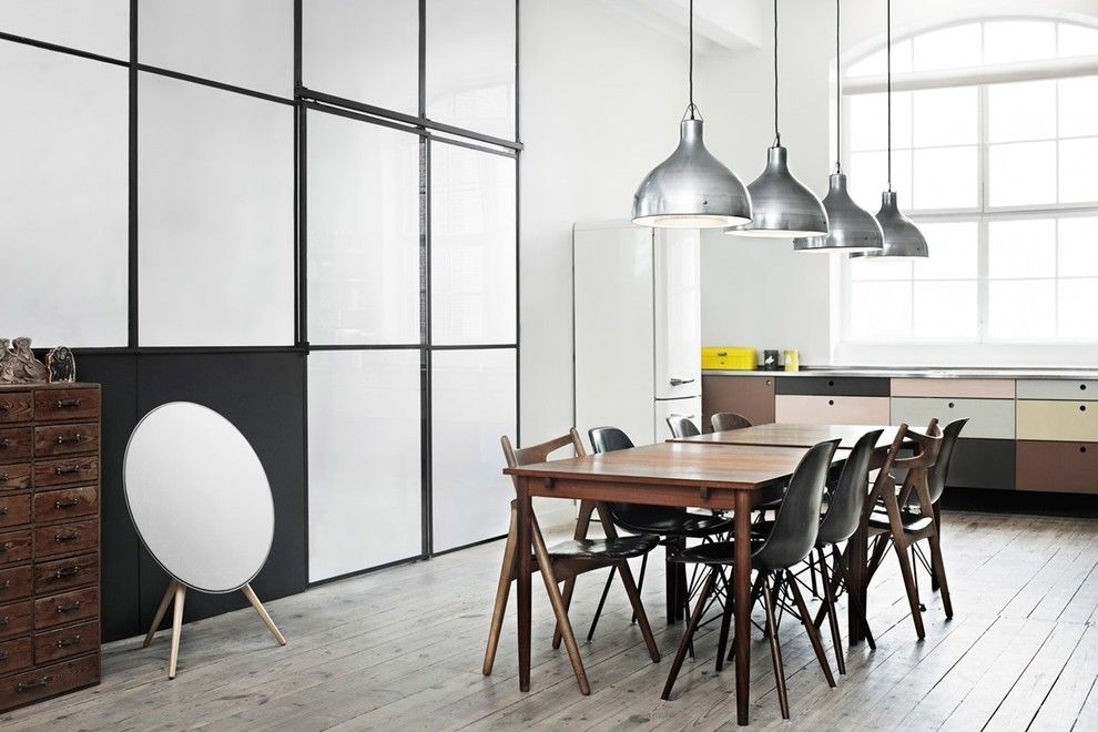 Beoplay A9 for a Industrial Dining Room with a Home Audio and Home Audio   Beoplay by Bang & Olufsen