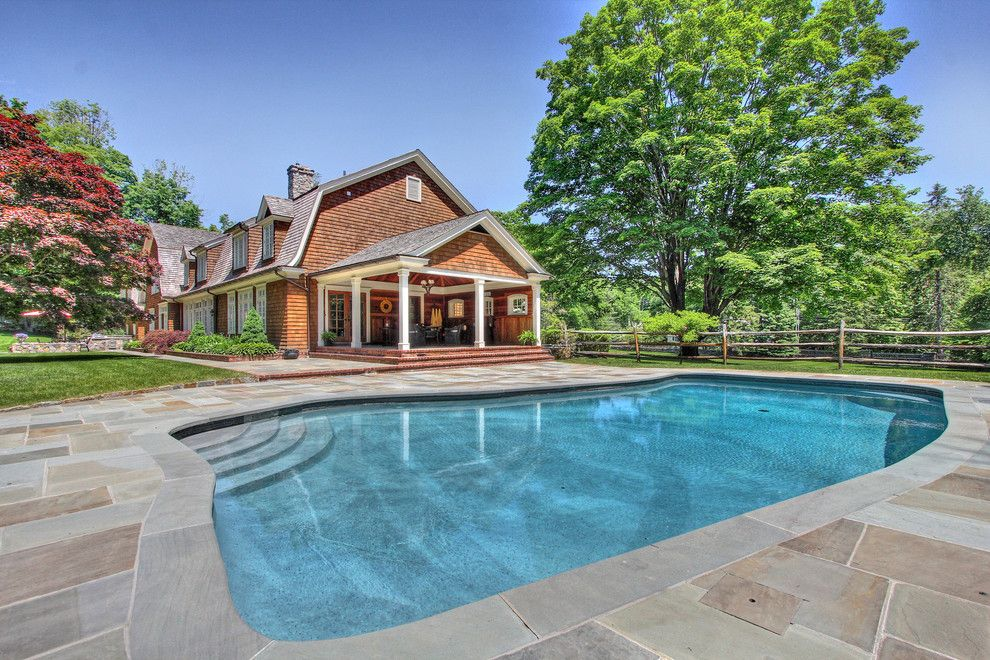 Berkshire Hathaway Real Estate Ct for a Traditional Pool with a Covered Porch and 3167 Burr Street, Fairfield, Ct by Annette Palmieri   William Raveis Real Estate
