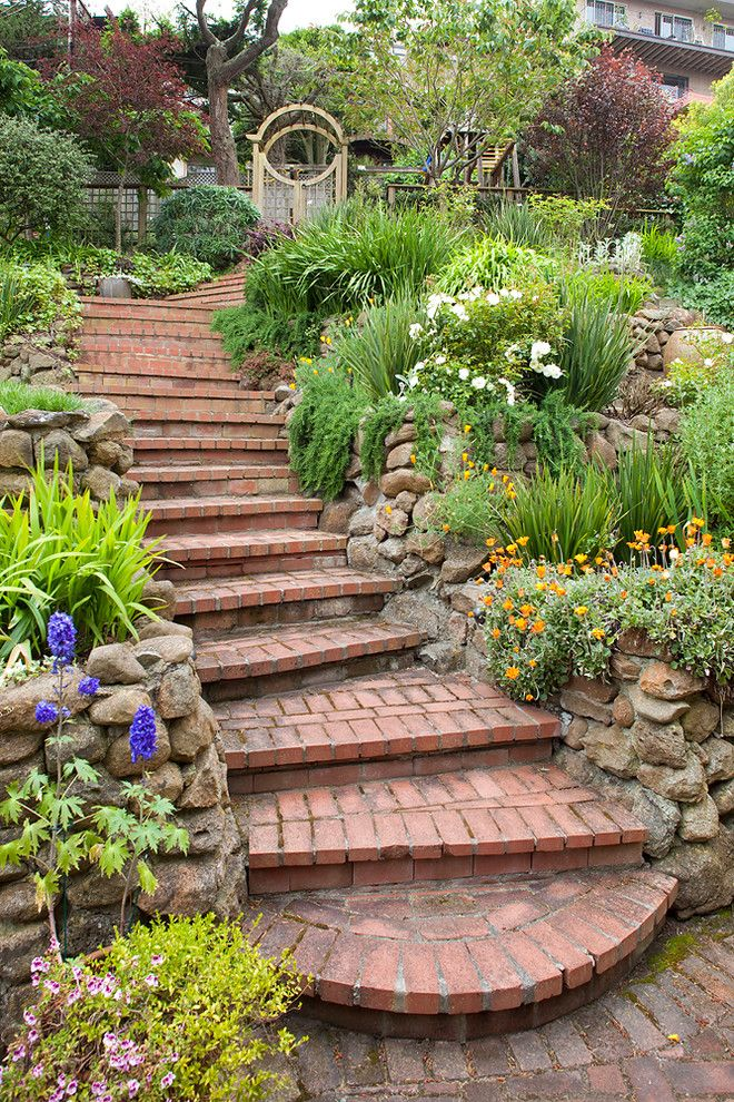 Berns Garden Center for a Traditional Landscape with a Brick Paving and San Francisco Estate by Shepard Design Landscape Architecture   Aj Shepard