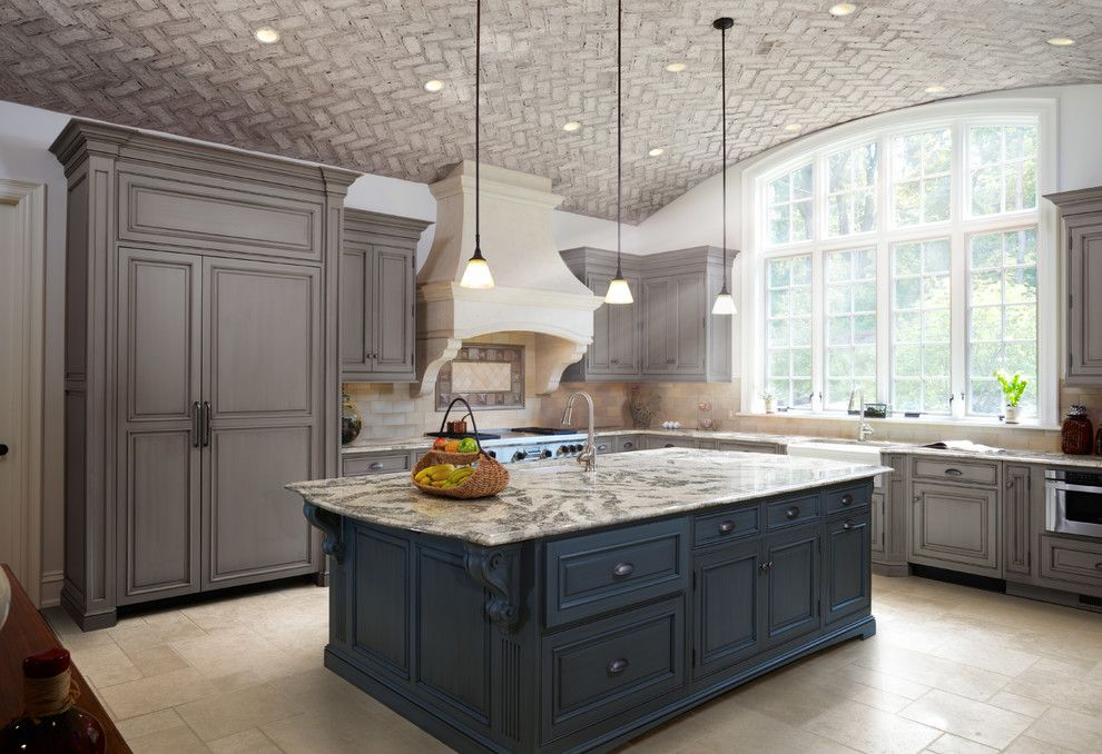 Berns Garden Center for a Traditional Spaces with a Quartz Countertop and Seagrove From Cambria's Coastal Collection by Cambria