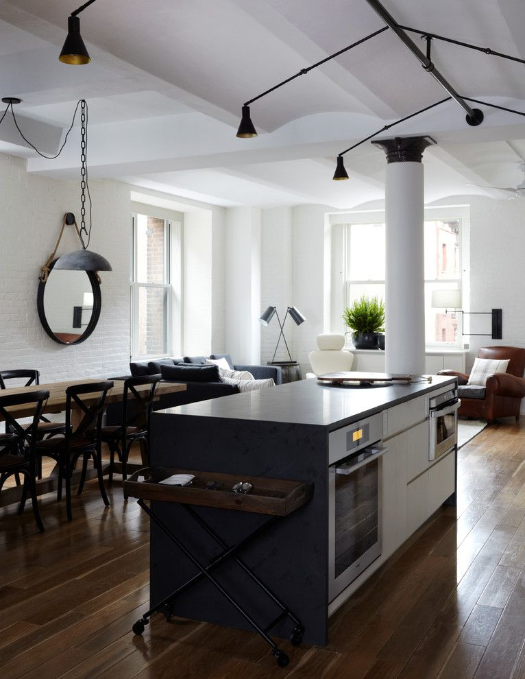 Best Buy Alamo Ranch for a Contemporary Kitchen with a Wood Floor and Hudson Loft, Nyc by Schappacherwhite Architecture D.p.c.