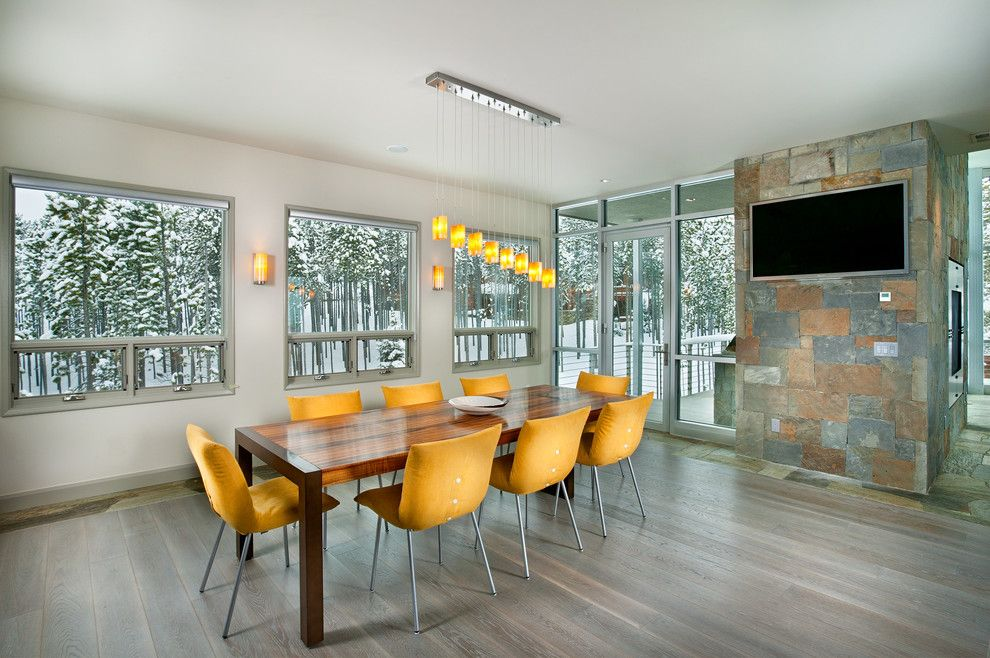Best Buy Carmel Mountain for a Contemporary Dining Room with a Wall Lighting and Peak 8 Penthouse - Dining Room by New Mood Design LLC