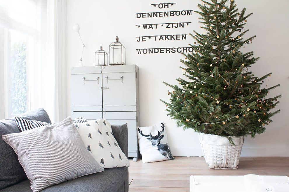 Best Buy Joliet Il for a Scandinavian Living Room with a Lanterns and a Perfectly Pale Interior with Nordic Influences by Louise De Miranda