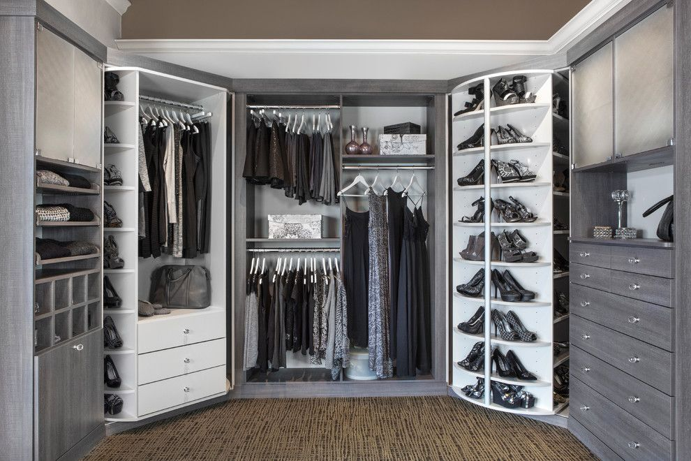 Best Buy Joliet Il for a Transitional Closet with a Cabinet Lazy Susan and 360 Organizer by Lazy Lee by Closet Works