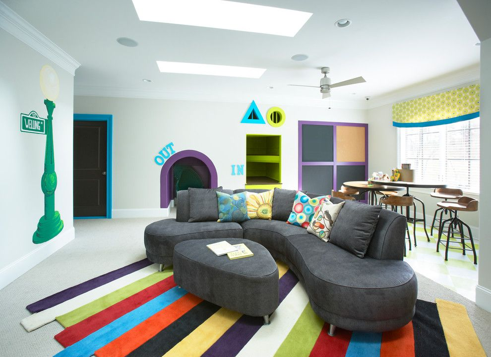Best Buy Mechanicsburg Pa for a Contemporary Kids with a Gray Couch and 2012 Inspiration Home by Milestone Custom Homes